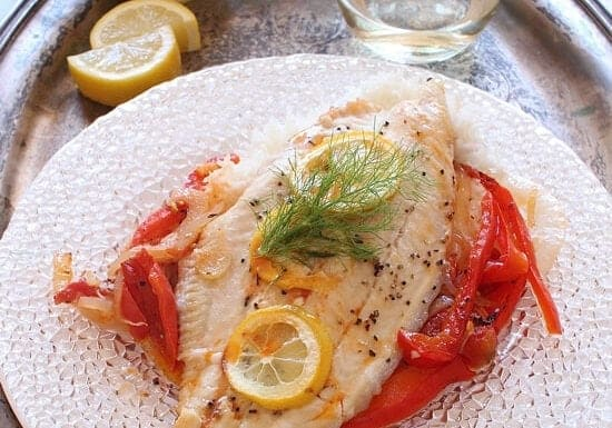 Catfish with Fennel and Tomatoes For One | onedishkitchen.com