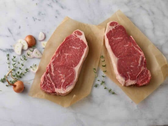 Natural Angus New York Strip Steaks