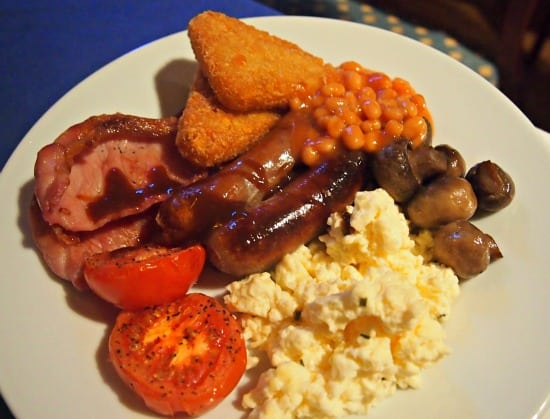 Traditional Full Englaish Breakfast. Food in the UK