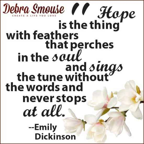 Hope is the thing like feathers