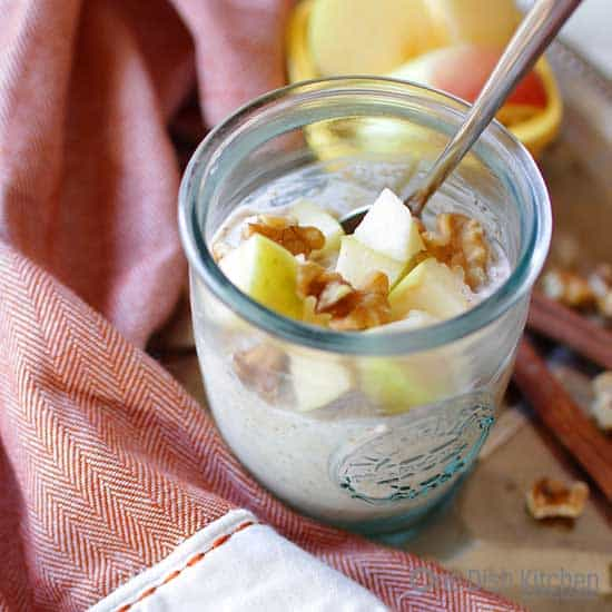 Apple Cinnamon Overnight Oats | One Dish Kitchen