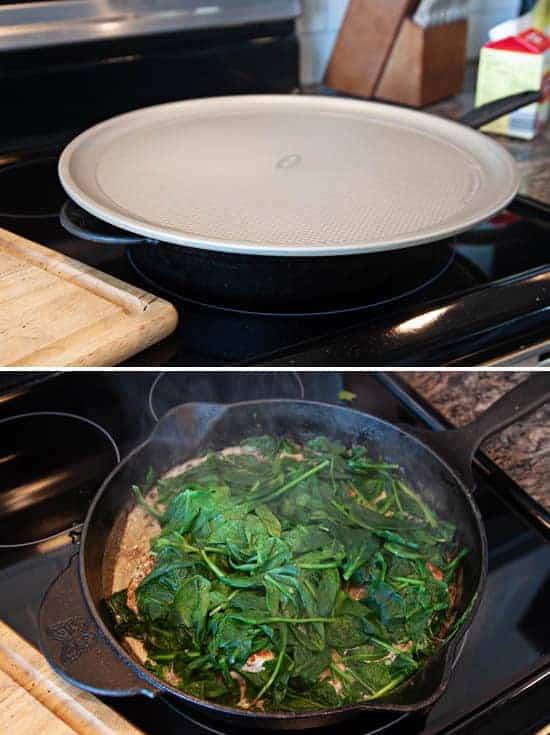 creamy chicken & spinach skillet
