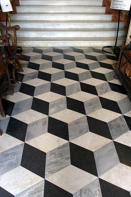 Geometrical 3d tiles in cube shape