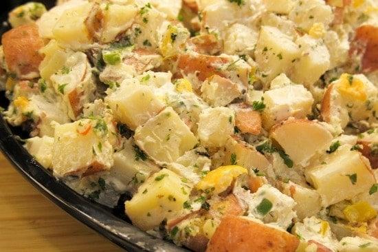 Recipes using Hard boiled Eggs - Potato salad