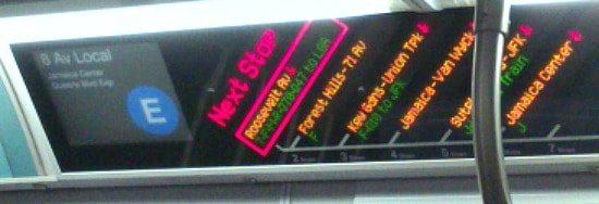 Great information signs for New York's subway