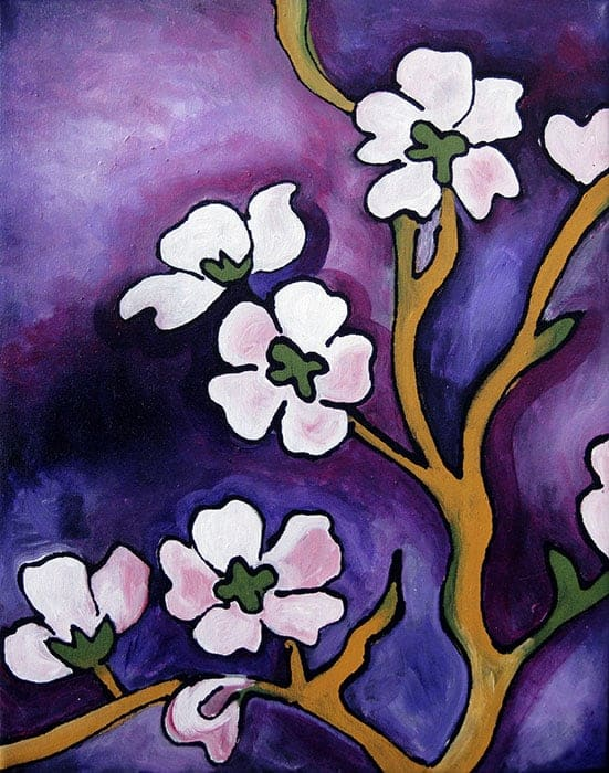 Blossoms with Purple Sky 1