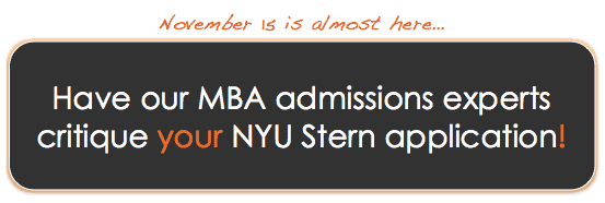 Have our MBA admissions experts critique your NYU Stern application!