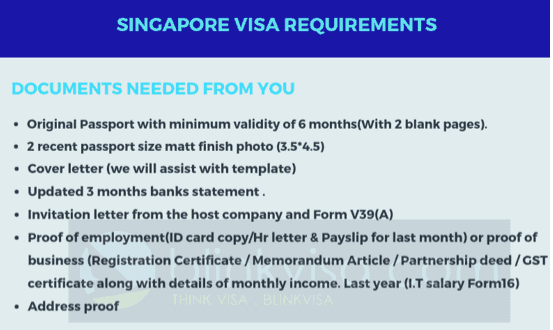 Singapore visa online requirements