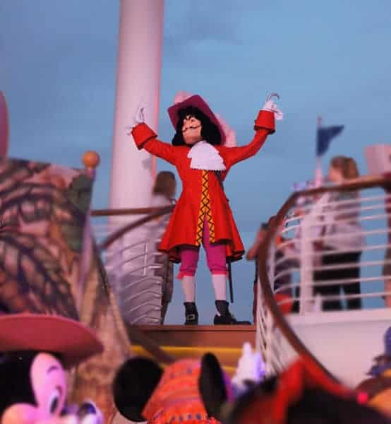"""Captain Hook trying to """"take over"""" the party"""