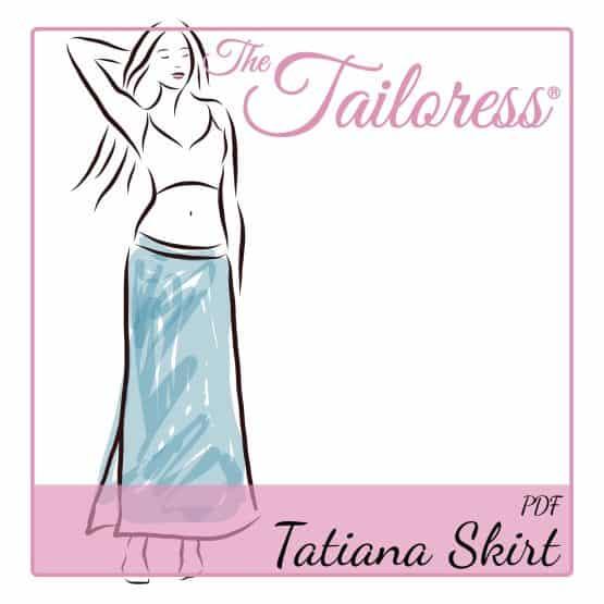 The Tailoress PDF Sewing Patterns - Tatiana Jersey Skirt PDF Sewing Pattern