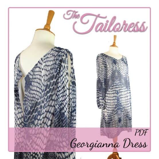 The Tailoress PDF Sewing Patterns - Georgianna Dress PDF Sewing Pattern