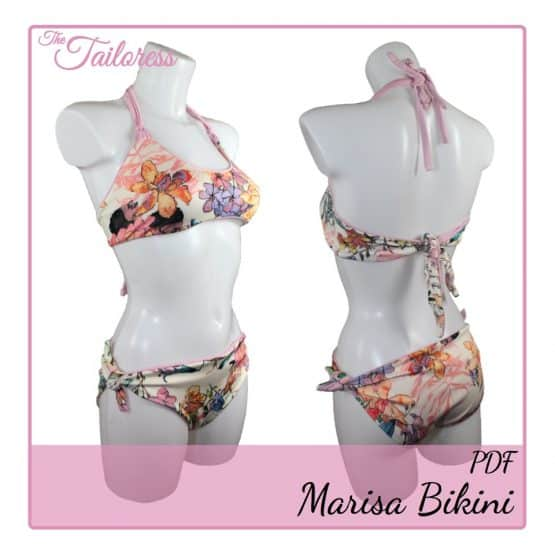 The Tailoress PDF Sewing Patterns - Marisa Bikini PDF Sewing Pattern