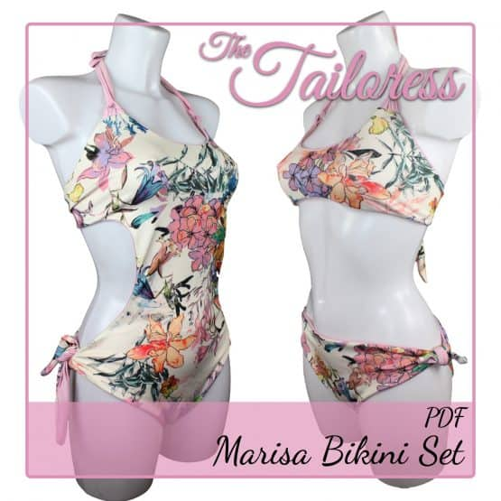 The Tailoress PDF Sewing Patterns - Marisa Monokini & Bikini Set PDF Sewing Pattern