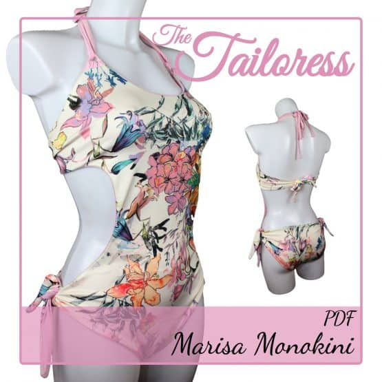 The Tailoress PDF Sewing Patterns - Marisa Monokini PDF Sewing Pattern