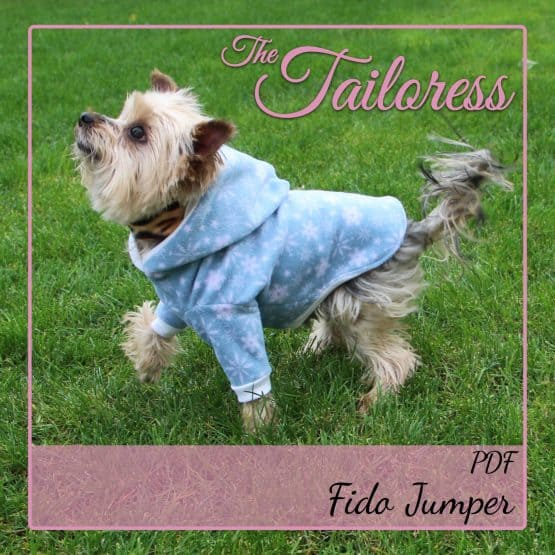 The Tailoress PDF Sewing Patterns - Fido Jumper Sweater Top for Dogs PDF Sewing Pattern