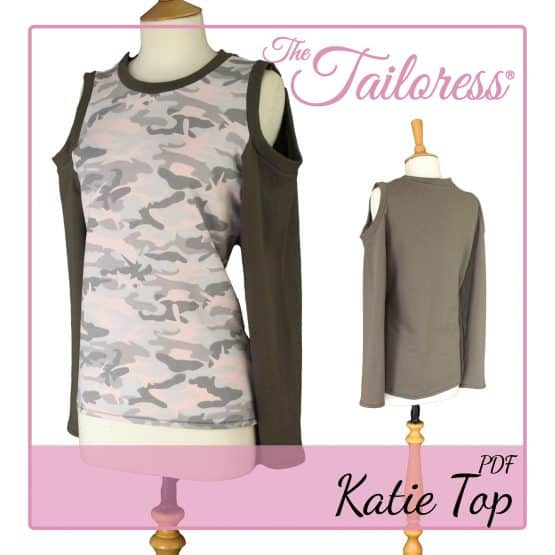 The Tailoress PDF Sewing Patterns - Katie Top PDF Sewing Pattern