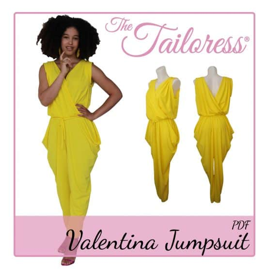 The Tailoress PDF Sewing Patterns - Valentina Jumpsuit PDF Sewing Pattern