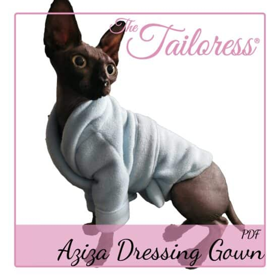 The Tailoress PDF Sewing Patterns - Aziza Dressing Gown for Sphynx Cats
