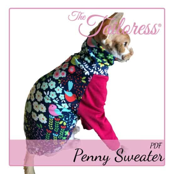 The Tailoress PDF Sewing Patterns - Penny Sweater for Cats PDF Sewing Pattern