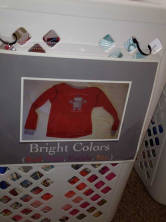 Signs for Laundry Basket for Children