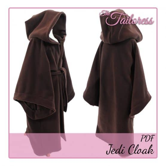 The Tailoress PDF Sewing Patterns - 1-14 YRS - Jedi Cloak PDF Sewing Pattern