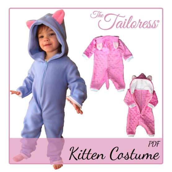 The Tailoress PDF Sewing Patterns - Children's KITTEN - Playsuit PDF Pattern