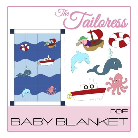 The Tailoress PDF Sewing Patterns - Nautical Baby Blanket  PDF Sewing Pattern