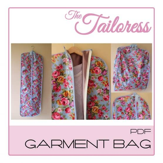 The Tailoress PDF Sewing Patterns - Garment Bag PDF Sewing Pattern - 4 SIZES (Child to Adult)
