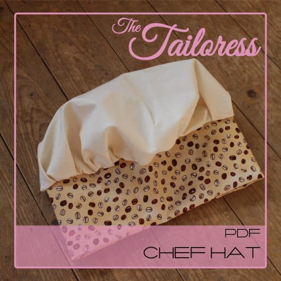 The Tailoress PDF Sewing Patterns - Chef Hat PDF Sewing Pattern