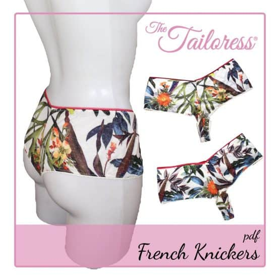 The Tailoress PDF Sewing Patterns - Jersey French Knickers PDF Sewing Pattern