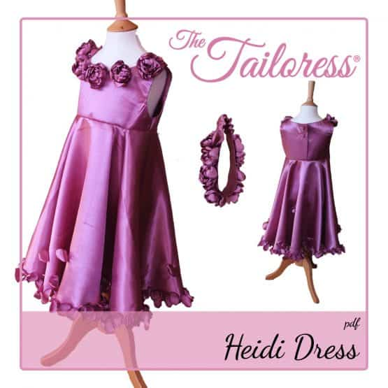 The Tailoress PDF Sewing Patterns - Heidi Rose Flower Girl Bridesmaid Dress PDF Sewing Pattern