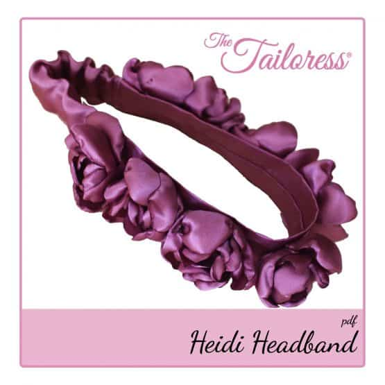 The Tailoress PDF Sewing Patterns - Heidi Rose Flower Headband PDF Sewing Pattern