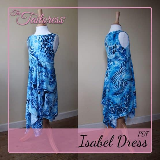 The Tailoress PDF Sewing Patterns - Isabel Handkerchief Dress PDF Sewing Pattern