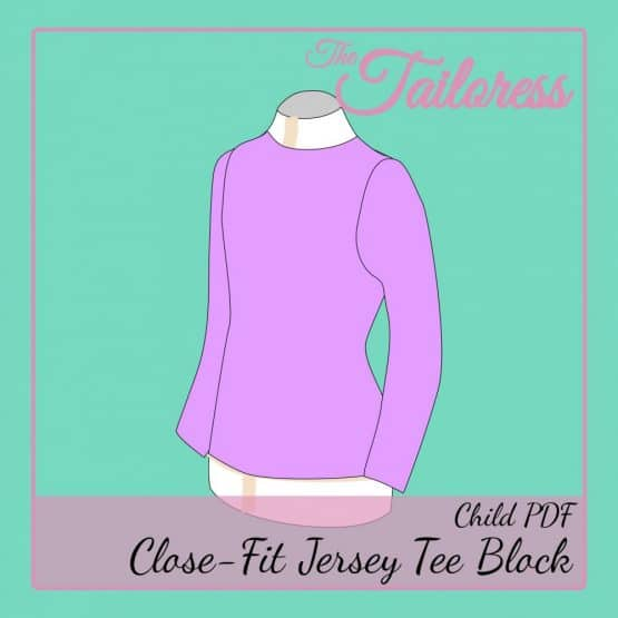 The Tailoress PDF Sewing Patterns - Close Fit Jersey Tee Block PDF Sewing Pattern