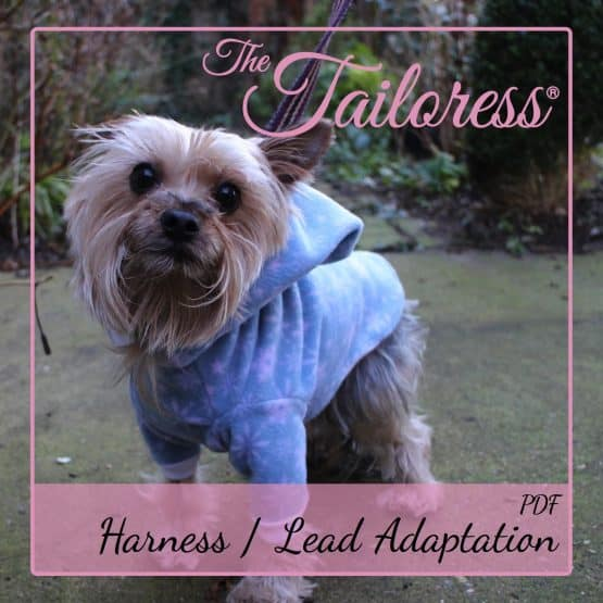 The Tailoress PDF Sewing Patterns - Harness / Lead Adaptation for Dog Clothing PDF Sewing Pattern