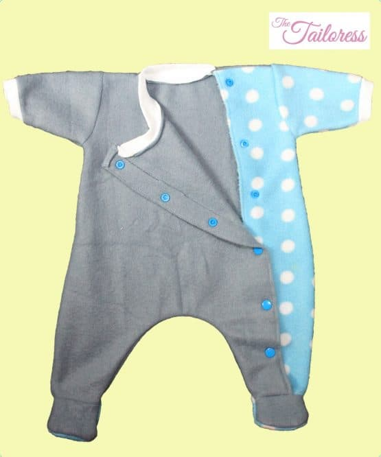 The Tailoress PDF Sewing Patterns - Aaron Romper for Toys Dolls or Preemie Babies / Children PDF Sewing Pattern 24-36 weeks