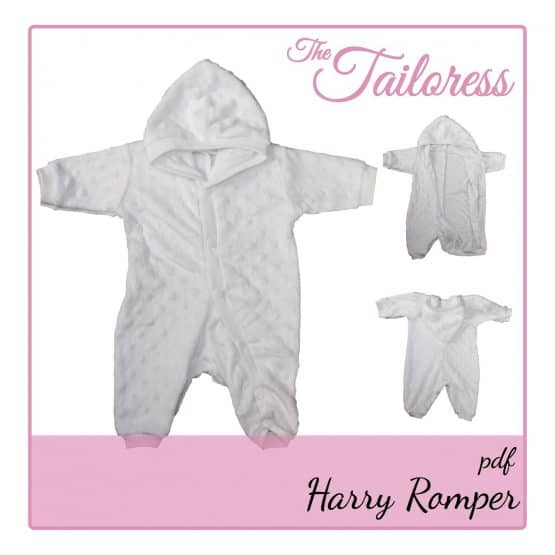 The Tailoress PDF Sewing Patterns - Harry Romper for Toys Dolls or Preemie Babies / Children PDF Sewing Pattern 24-36 weeks