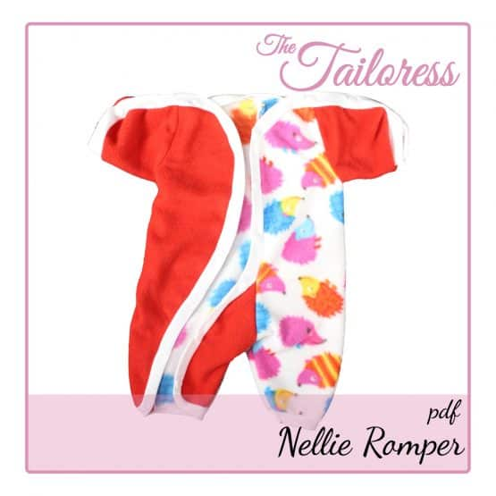 The Tailoress PDF Sewing Patterns - Nellie Romper for Preemie Babies / Children PDF Sewing Pattern 24-36 weeks
