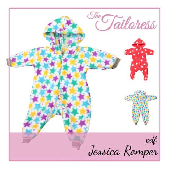 The Tailoress PDF Sewing Patterns - Jessica Preemie Baby / Children Sleep suit PDF Sewing Pattern 24-36 weeks