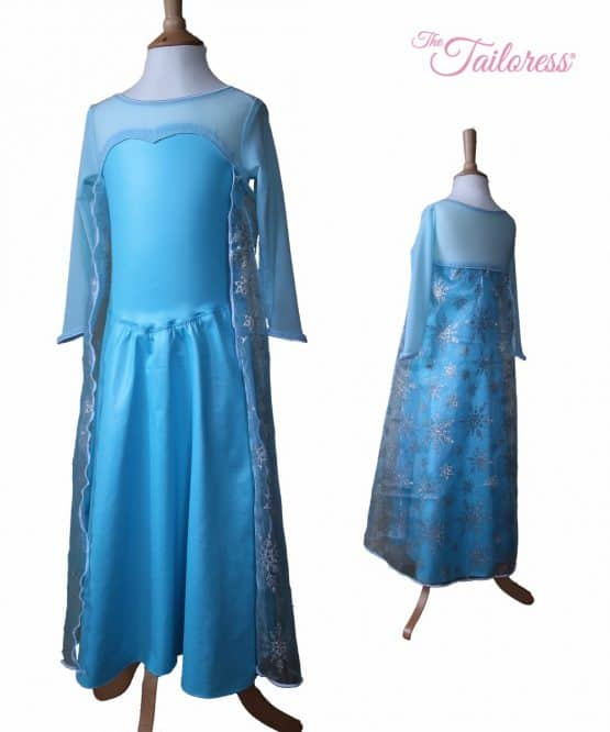 The Tailoress PDF Sewing Patterns - Princess Elsa Frozen Dress with Cape PDF Sewing Pattern