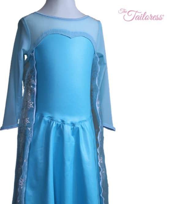 The Tailoress PDF Sewing Patterns - Princess Elsa Frozen Dress with Cape PDF Sewing Pattern