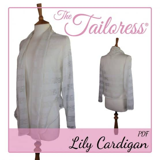 The Tailoress PDF Sewing Patterns - Lily Waterfall Cardigan PDF Sewing Pattern
