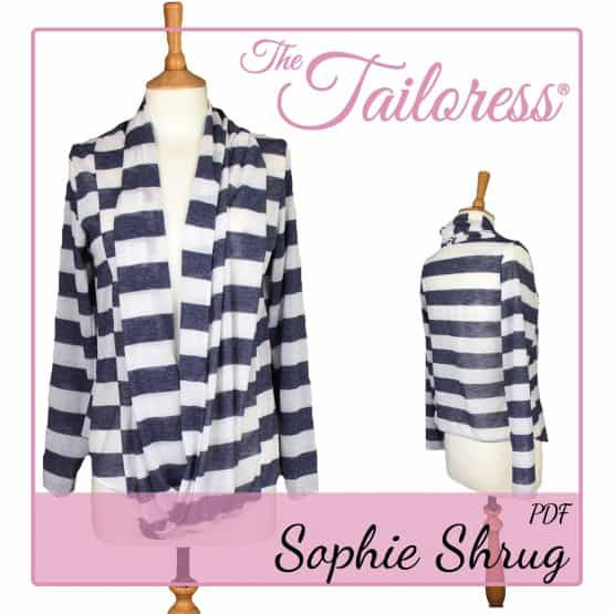 The Tailoress PDF Sewing Patterns - Sophie Shrug PDF Sewing Pattern