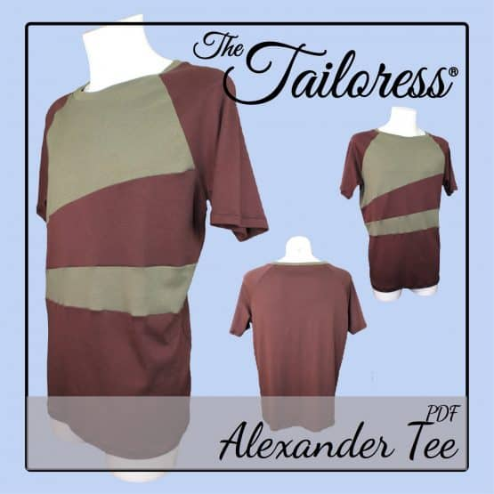 The Tailoress PDF Sewing Patterns - Alexander Tee PDF Sewing Pattern
