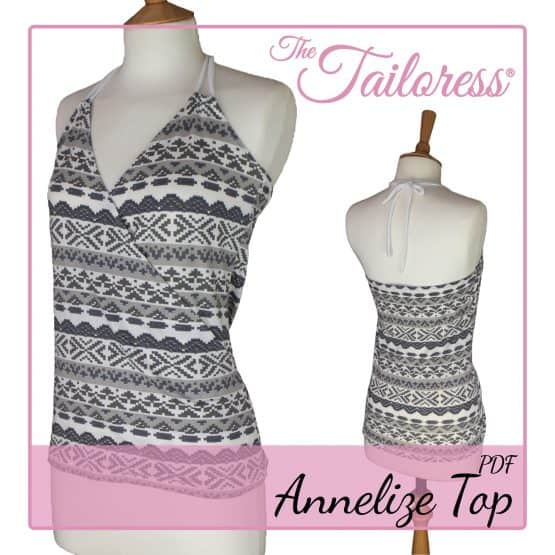 The Tailoress PDF Sewing Patterns - Annelize Wrap Top PDF Sewing Pattern