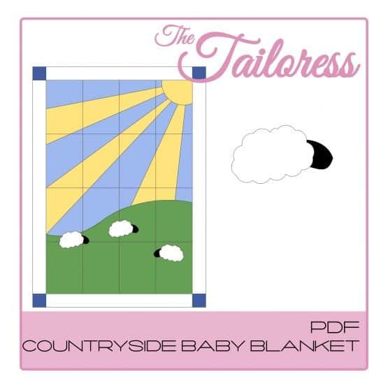 The Tailoress PDF Sewing Patterns - Countryside Baby Blanket PDF Sewing Pattern