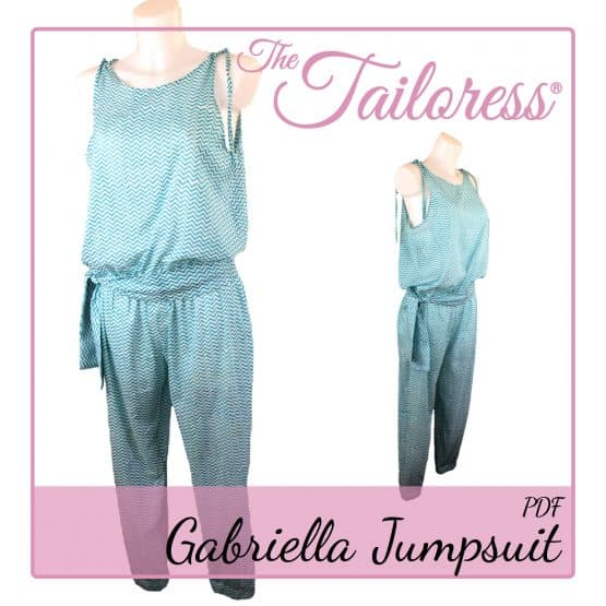 The Tailoress PDF Sewing Patterns - Gabriella Jumpsuit PDF Sewing Pattern