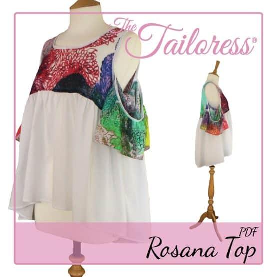 The Tailoress PDF Sewing Patterns - Rosana Top PDF Sewing Pattern