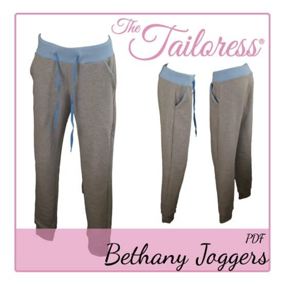 The Tailoress PDF Sewing Patterns - Bethany Joggers PDF Sewing Pattern