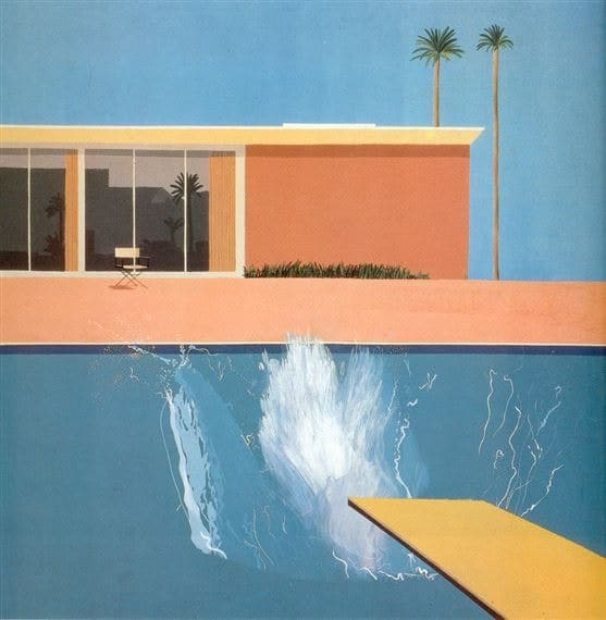 David Hockney Acrylic Paint